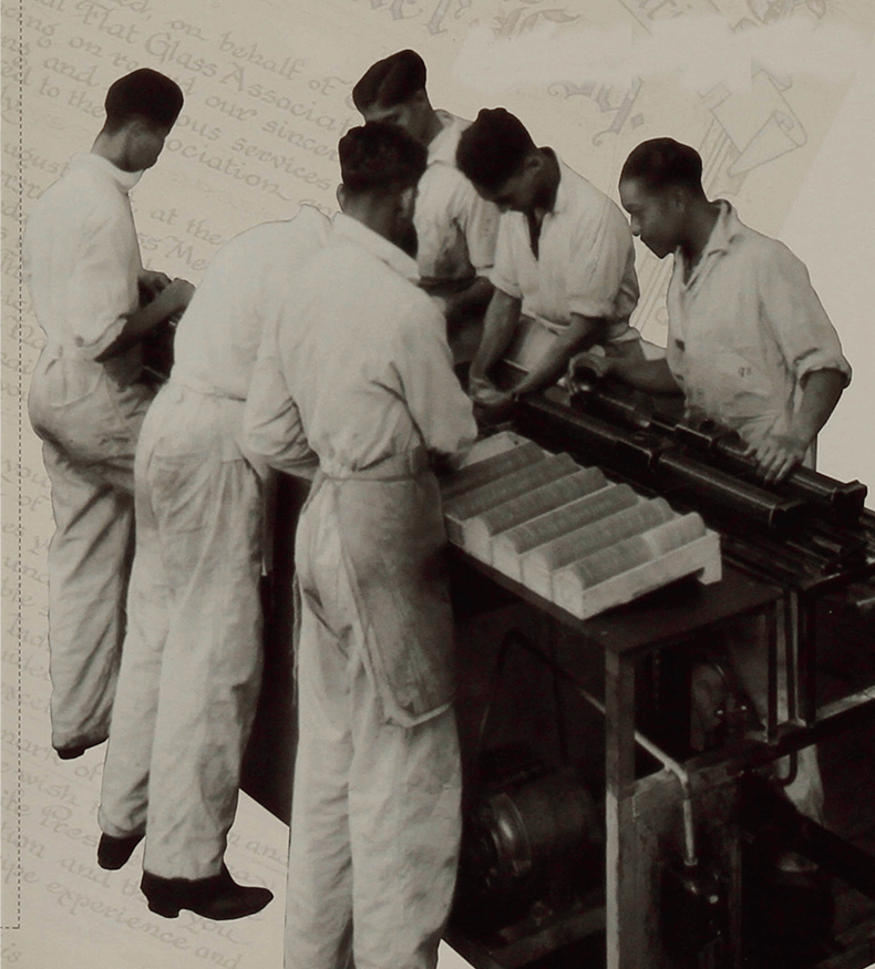 Archive image of line workers