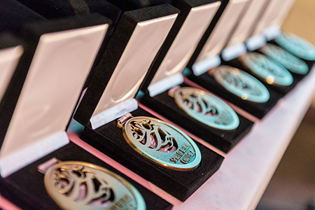 Spirit of Belron Challenge medals