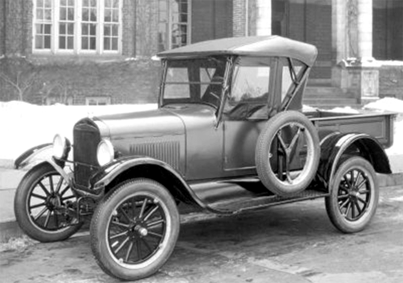 Archive image of early Ford car