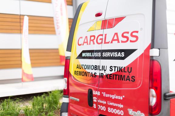 Rear of Carglass van
