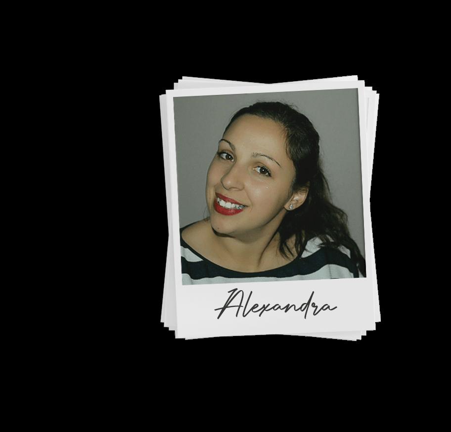 Polaroid image of Alexandra