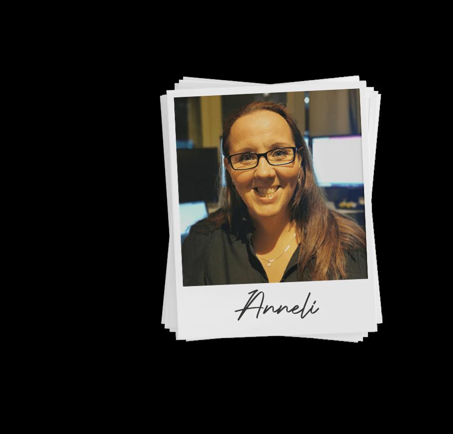Polaroid image of Anneli