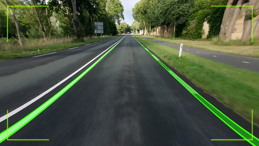 Example of sensor working on stretch of road